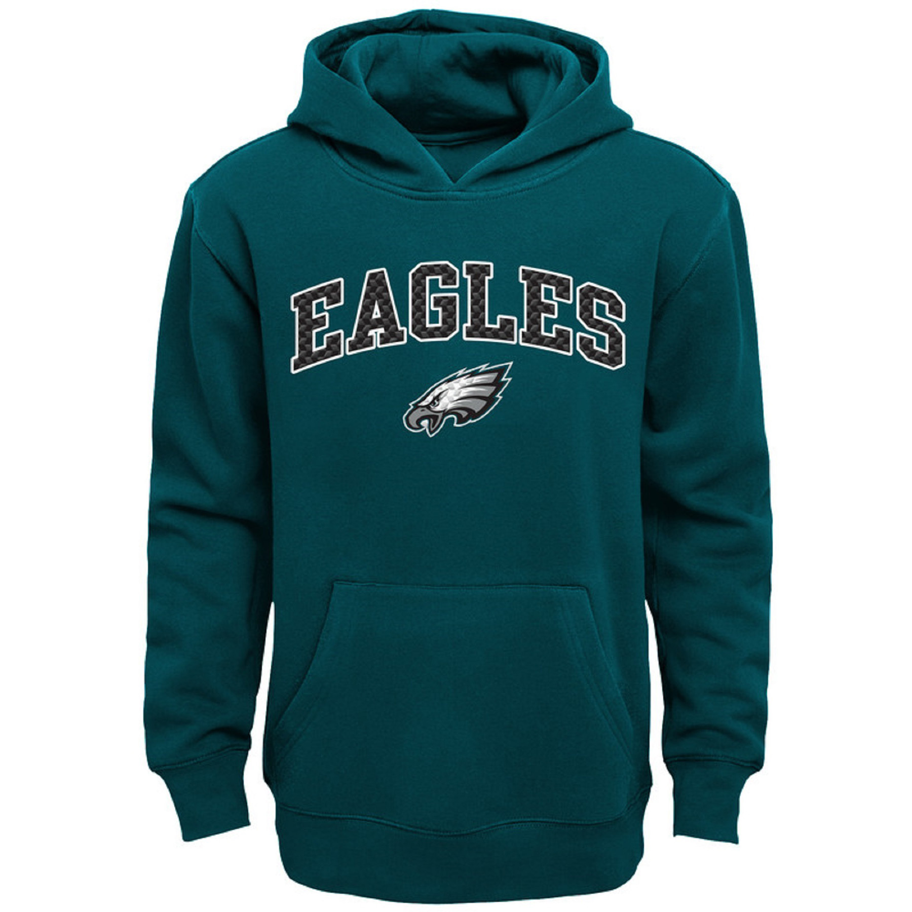 Youth Midnight Green Philadelphia Eagles Clear Gel Fleece Hoodie
