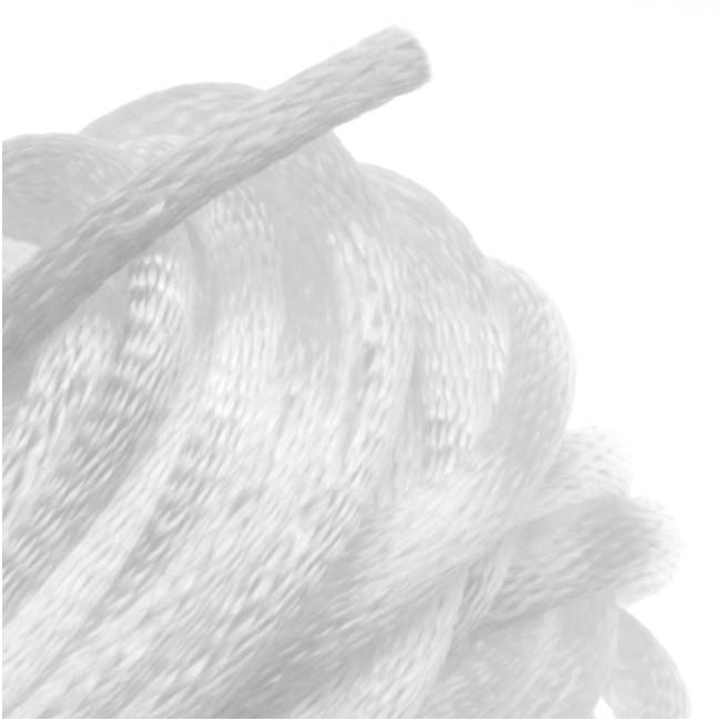 Rayon Satin Rattail 2mm Cord - Knot & Braid - White (6 Yards)