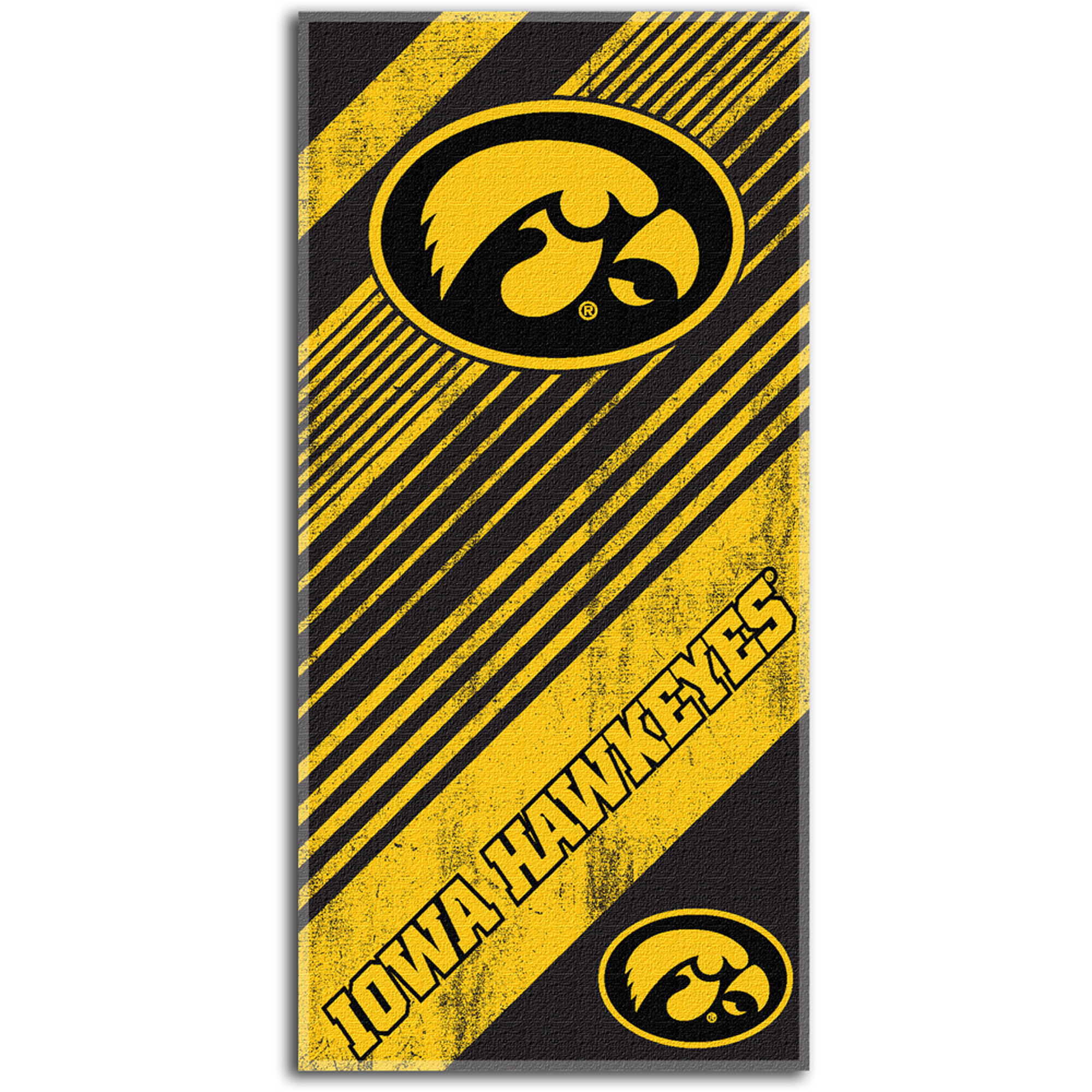 NCAA Beach Towel Diagonal Series, University of Iowa