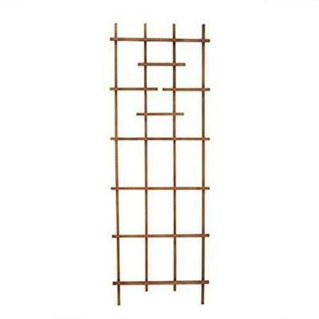 Wooden Trellis - Products  72 in. Wooden Ladder Trellis, Brown