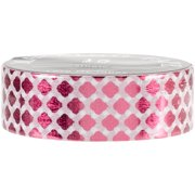 Love My Tapes Foil Washi Tape 15mmx10m-Red Checkered