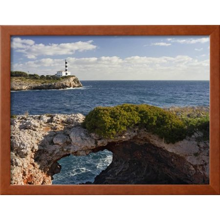 East Coast Lighthouses - Spain, Majorca, East Coast, Lighthouse of Portocolom, Punta De S'Homonet Framed Print Wall Art By Rainer Mirau