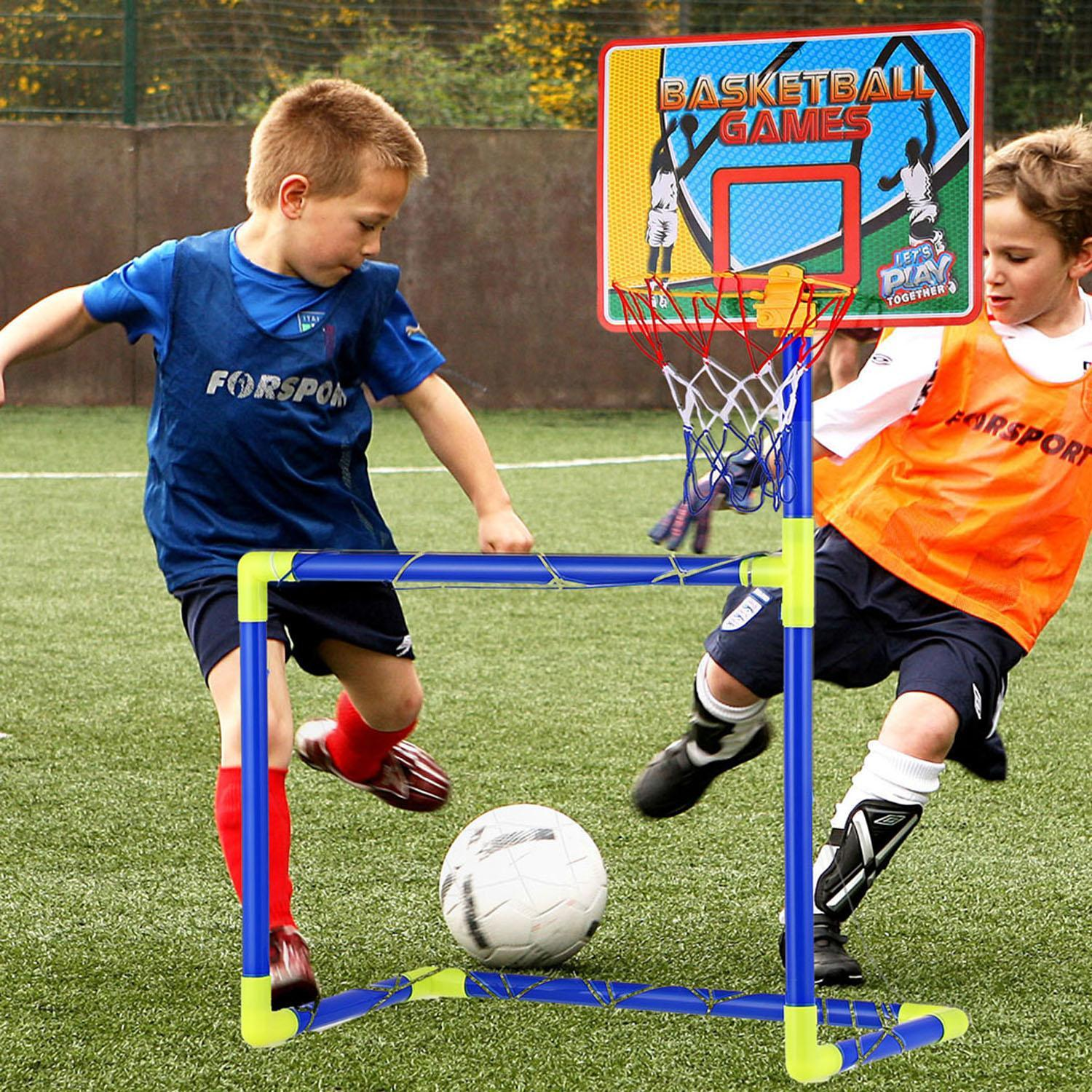 2 in 1 Creative Football Basketball Rack Stand Sports Set LEO by