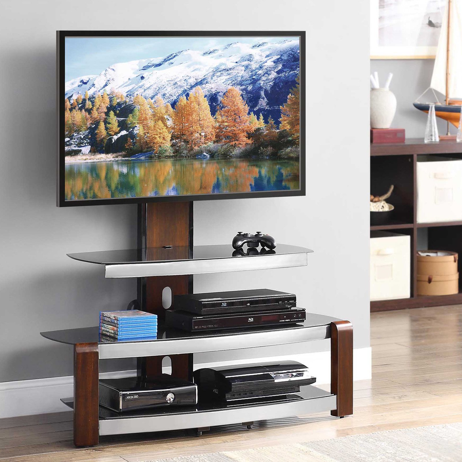 Tv Furniture Living Room Tv Stands Entertainment Centers Walmartcom