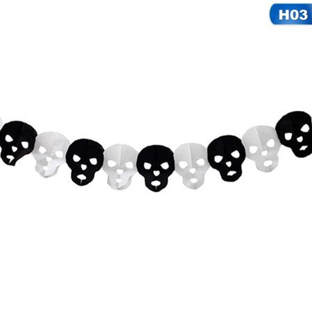 Scary Pumpkins For Halloween (AkoaDa Spider Pumpkin Scary Witch Garland Halloween Paper Haunted House Bar  For  Halloween Terror)