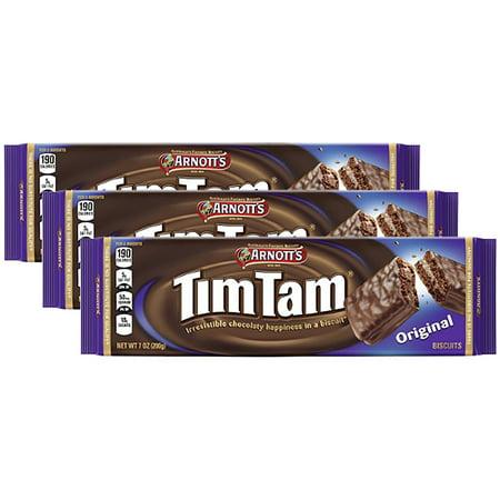 Tams Near Me >> 3 Pack Arnott S Tim Tam Original Cookies 7 Oz Tray