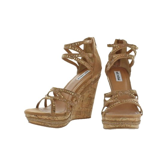 03a3fbb31399 Not Rated - Womens Coral Sea Strappy Rhinestone Wedge Sandals ...