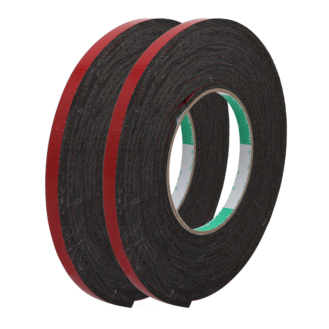 Unique Bargains 2pcs Door Seal 8x3mm Dual-sided Adhesive Shockproof Sponge Foam Tape 4M Length
