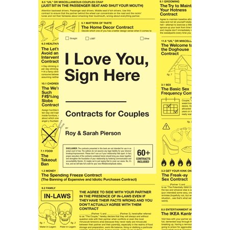 I Love You  Sign Here   Contracts For Couples