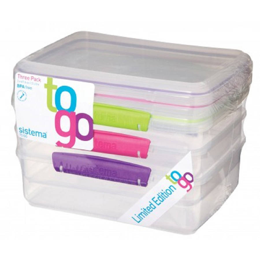 Sistema To Go 2-Liter Container, 3 Pack
