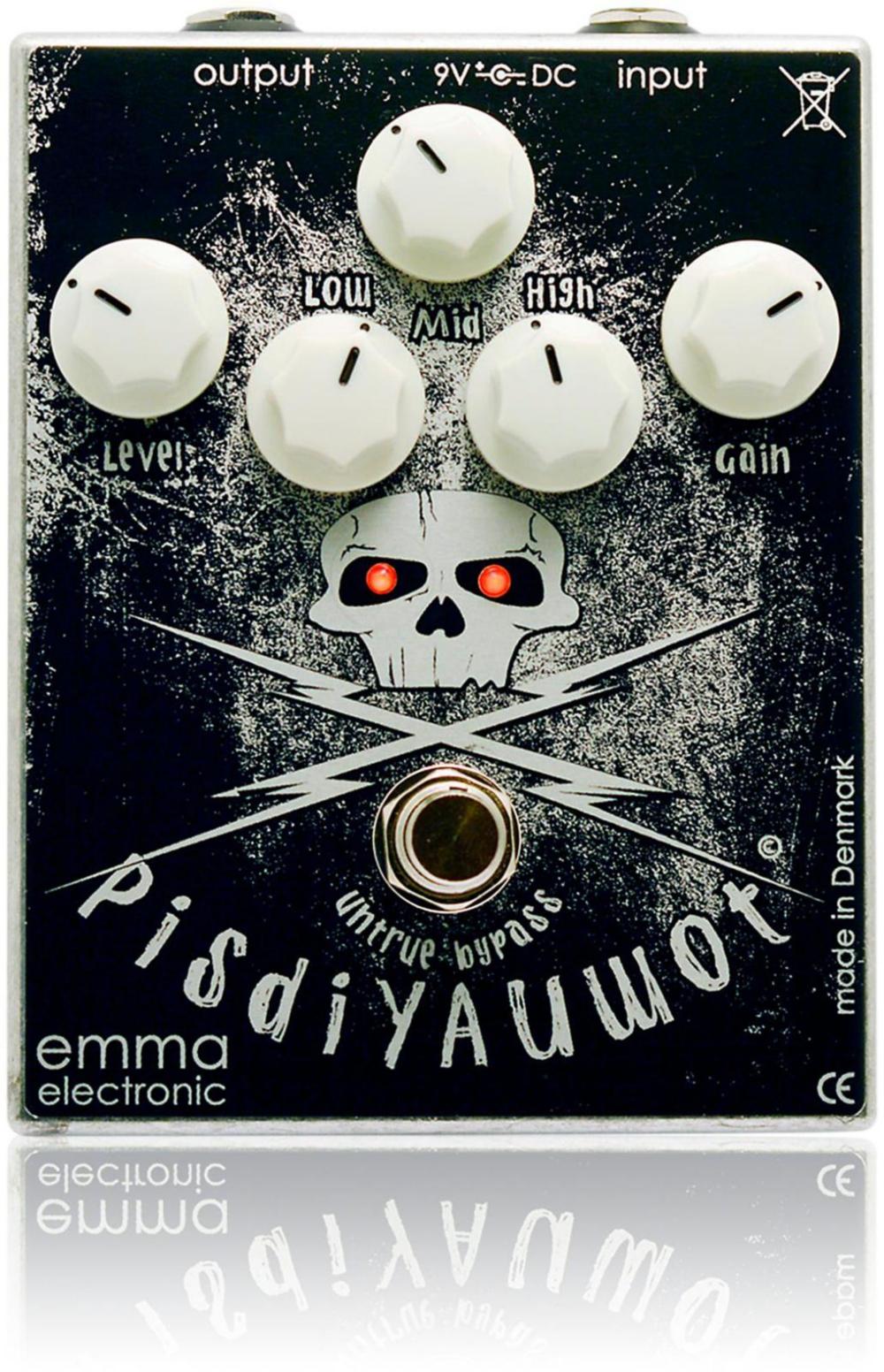 Emma Electronic PisdiYAUwot Metal Distortion Guitar Effects Pedal by Emma Electronic