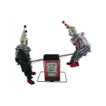 See Saw Clowns Animated Prop Halloween Decoration](Halloween Saw Decorations)
