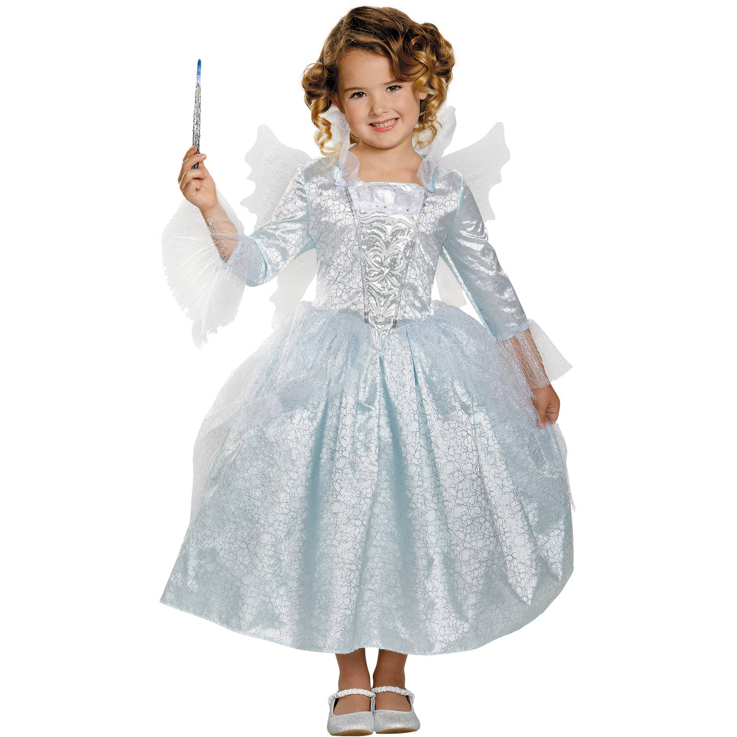 Fairy Godmother Deluxe Child Halloween Costume  sc 1 st  Walmart & Fairy Costumes