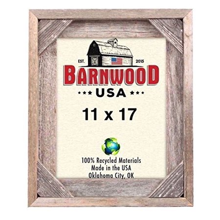 BarnwoodUSA | Rustic Signature Corner Block Picture Frame | 100% Up-Cycled Reclaimed Wood - Signature Photo Frame