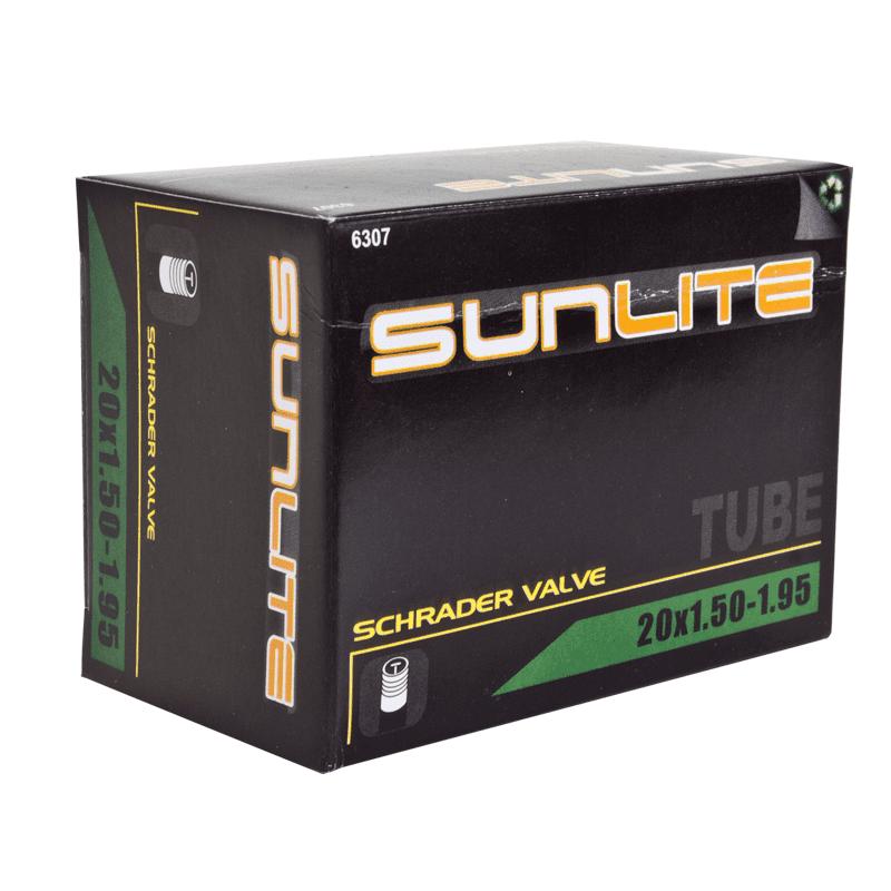 """Sunlite Bicycle Inner Tube BMX Bike 20"""" x 1.50 - 1.95 Schrader Valve SV"""