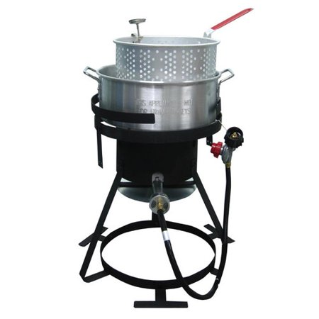 Kamp kitchen 10 quart fish fry kit for Fish fryer propane
