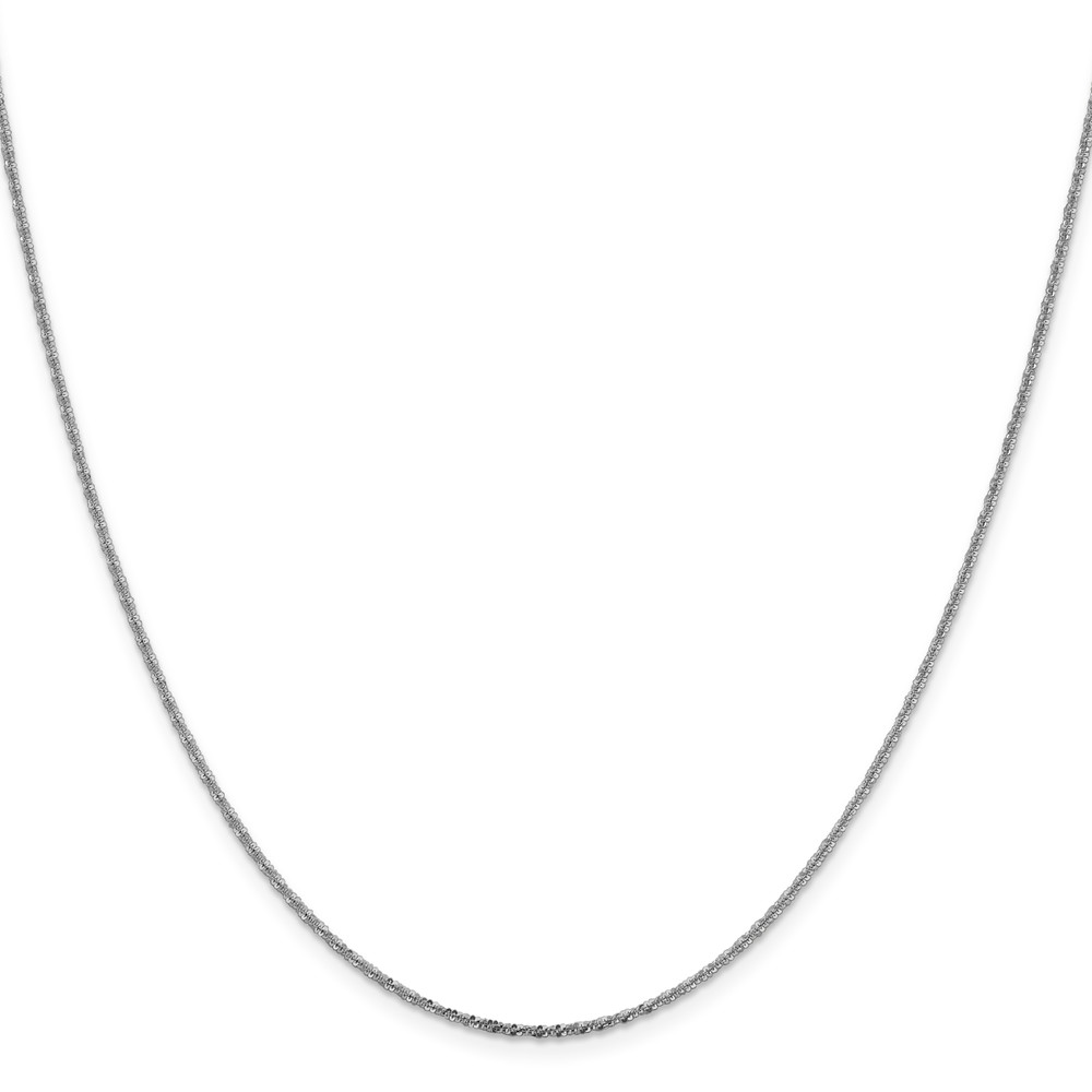 14K 1.50mm White 20in Gold Cyclone Necklace Chain