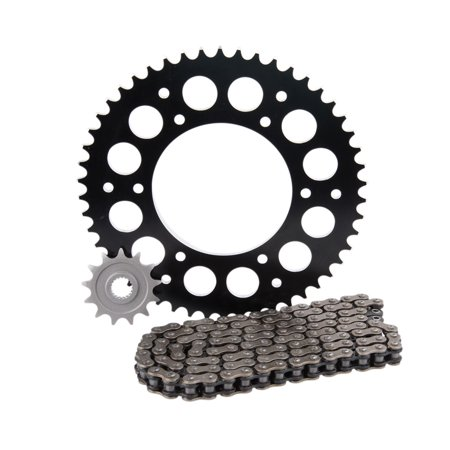 Primary Drive Alloy Kit & O-Ring Chain Black Rear Sprocket - Fits: KTM 125 EXC 1998-2003 ()