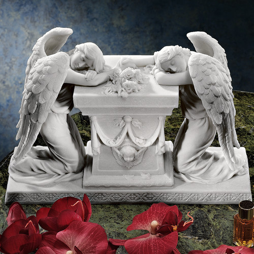 Design Toscano Hartmann Angels A Memorial to Lost Love Bonded Marble Resin Statue