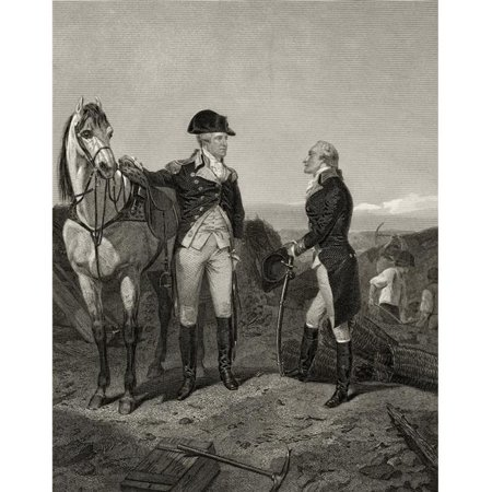 First Meeting of George Washington 1732 to 1799 with Alexander Hamilton 1755 or 1757 to 1804 After Alonzo Chappel From L Poster Print, 24 x 30 - image 1 of 1
