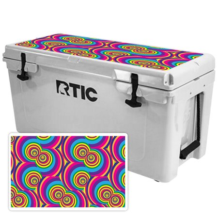 Skin for RTIC 65 Cooler Lid (2017 Model) - Groovy 60s| MightySkins Protective, Durable, and Unique Vinyl Decal wrap cover  | Easy To Apply, Remove, and Change Styles | Made in the USA