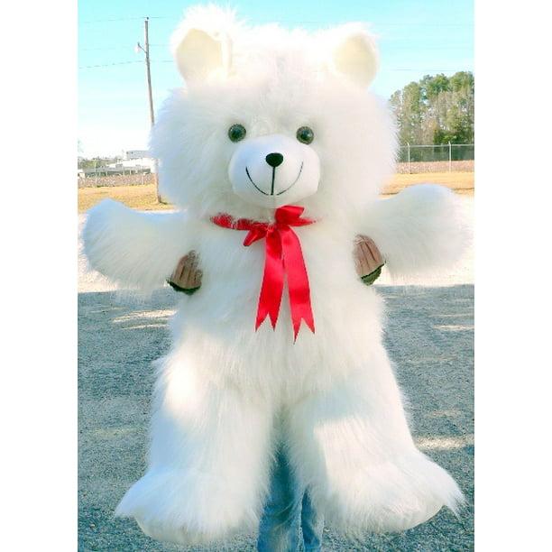 Baby Net For Stuffed Animals, Valentine S Day Giant Teddy Bear 4 Foot White 48 Inches Soft Big Plush Animal Made In Usa Walmart Com Walmart Com