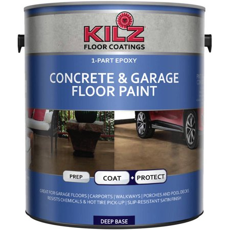 kilz 1 part epoxy concrete and garage floor paint gallon