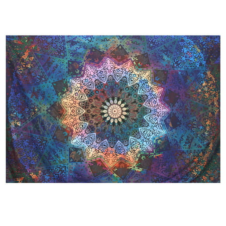 Bestller Twin Blue Tie Dye Bohemian Tapestry Hippy Elephant Star Mandala Tapestry Bohemia Wall Hanging Hippie Beach Blanket Curtain