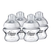 Tommee Tippee Closer to Nature Baby Bottles - 5 Ounces, Clear, 4 pack