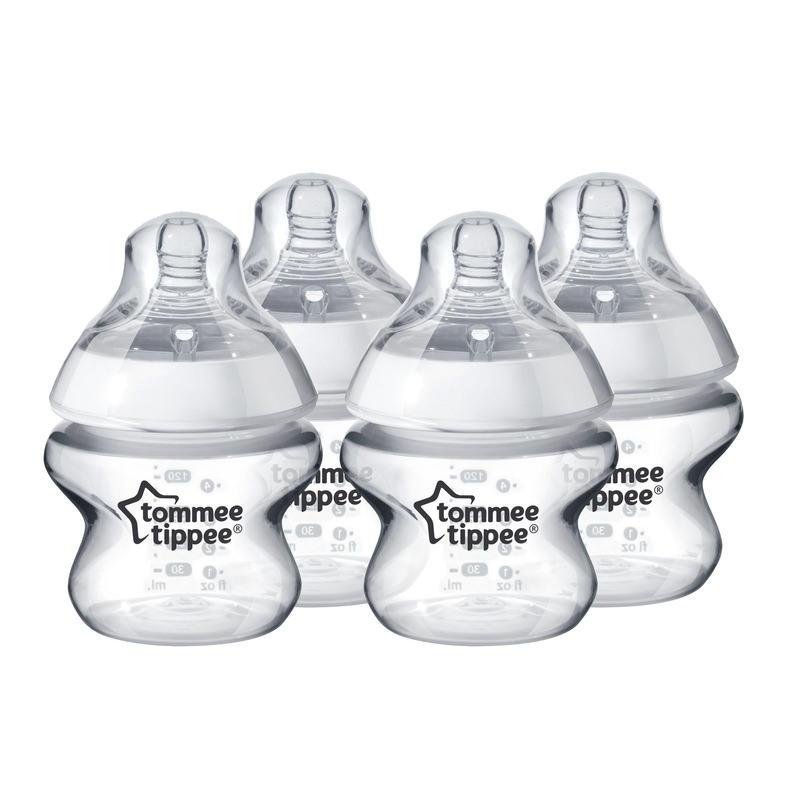 Tommee Tippee Closer to Nature Baby Bottles, 5 ounce, 4 pack