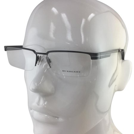 Burberry B 1170 1001 Black Silver Semi Rimless Eyeglasses 53mm ()