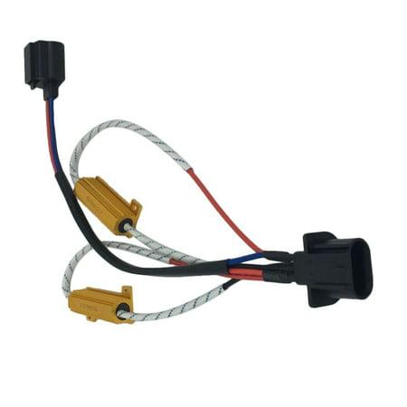 New H13 LED DRL Fog Light CANbus Load Resistor Wiring Canceller