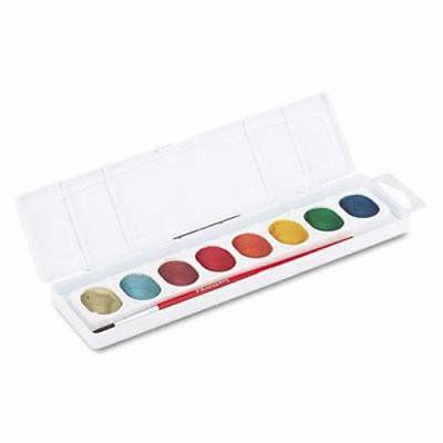Prang Metallic Washable Watercolors, 8 Assorted Colors (DIX80516),2PK