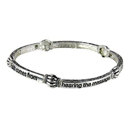 Romans 10 17 Stretch Bracelet Scripture Faith Comes From He