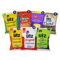 Utz Jumbo Chip Variety Snack Pack Box, 60 Ct