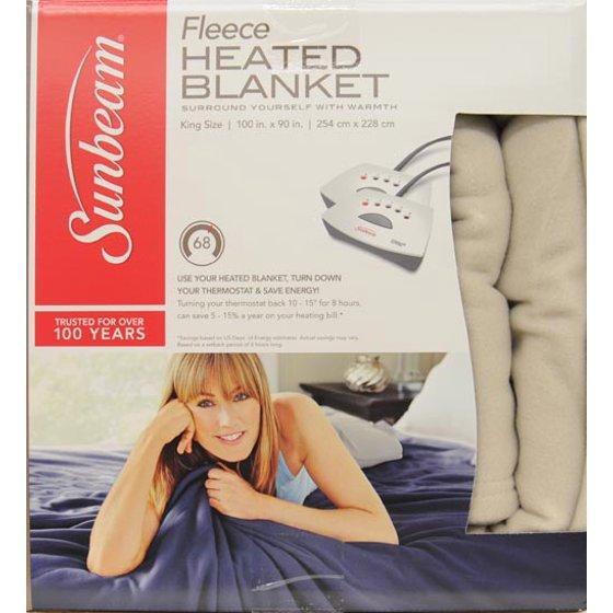 bdce7d81e6 Sunbeam Fleece Electric Heated Blanket