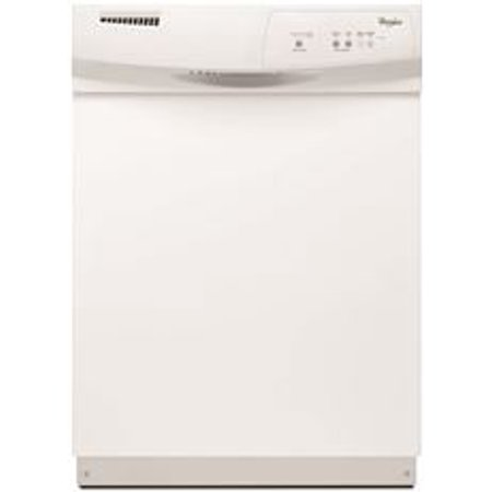 Whirlpool Tall Tub Built In 24 Inch Dishwasher With Front Controls  White  3 Cycles   2 Options