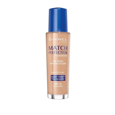 Match Perfection Foundation, 220 Soft Ivory (Pack of 2), Smart-Tone® technology By Rimmel From (Rimmel Match Perfection Fix & Perfect Primer)