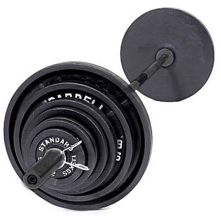 CAP Barbell 300-lb Cast Iron Olympic Weight Set (Includes 7 Bar) (Cap Barbell Set)