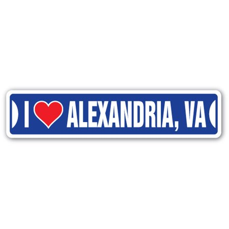 I LOVE ALEXANDRIA, VIRGINIA Street Sign va city state us wall road décor gift](Party City Alexandria La)