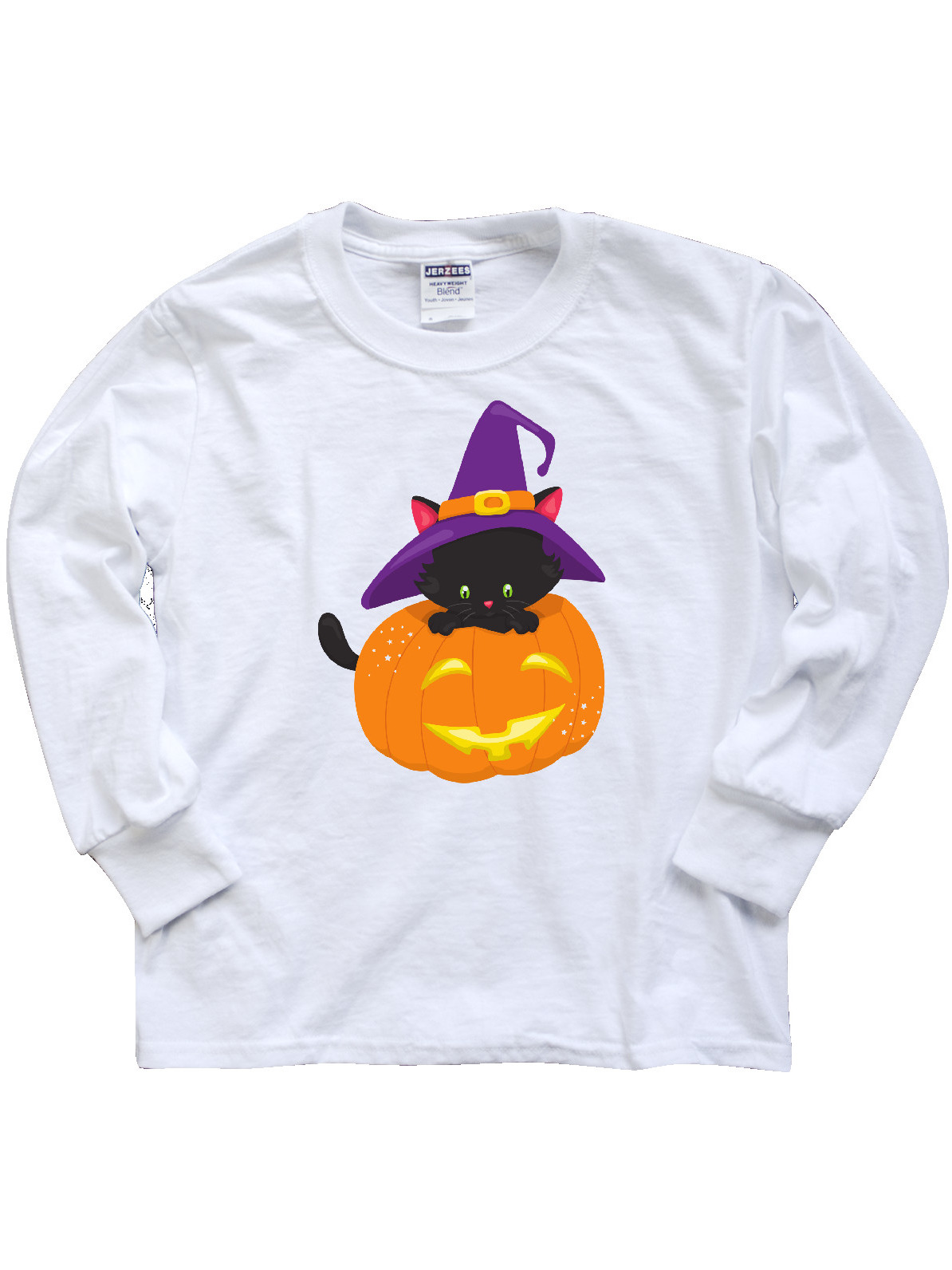 inktastic Halloween Cute Witch Hat Toddler Long Sleeve T-Shirt