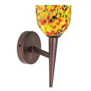 Radionic Hi Tech SC-DLSLW7700-YM-OBB-RHT Orly 1 Light Oil Brushed Bronze Wall Lamp With Yellow Mosaic Glass