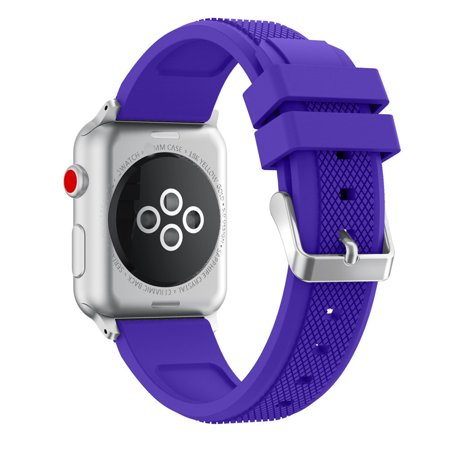 Sports Soft Silicone Replacement Sports Band Strap For Apple Watch Series 3 38MM