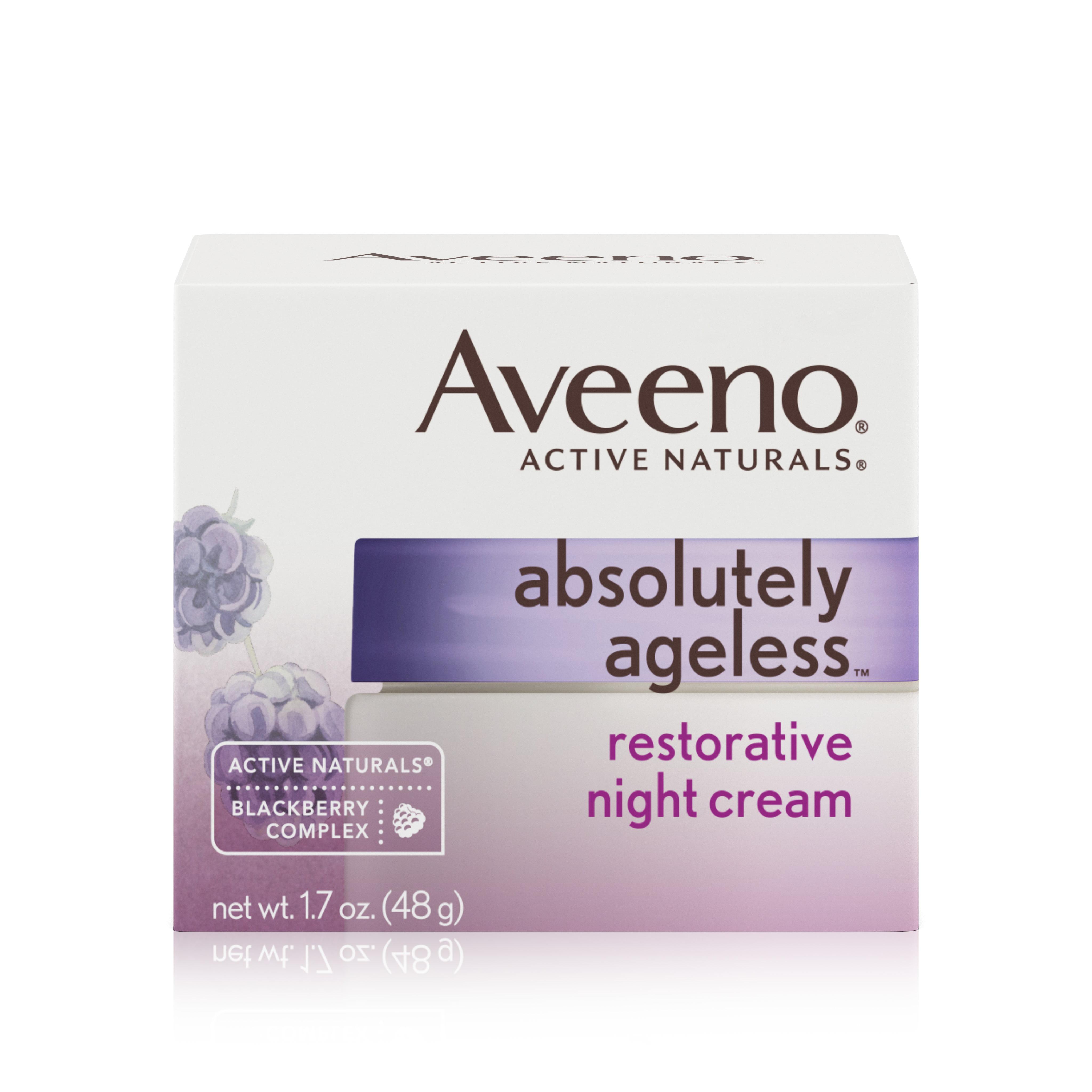 Aveeno Absolutely Ageless Restorative Facial Anti-Aging Night Cream, 1.7 Oz by Johnson & Johnson Consumer Inc.