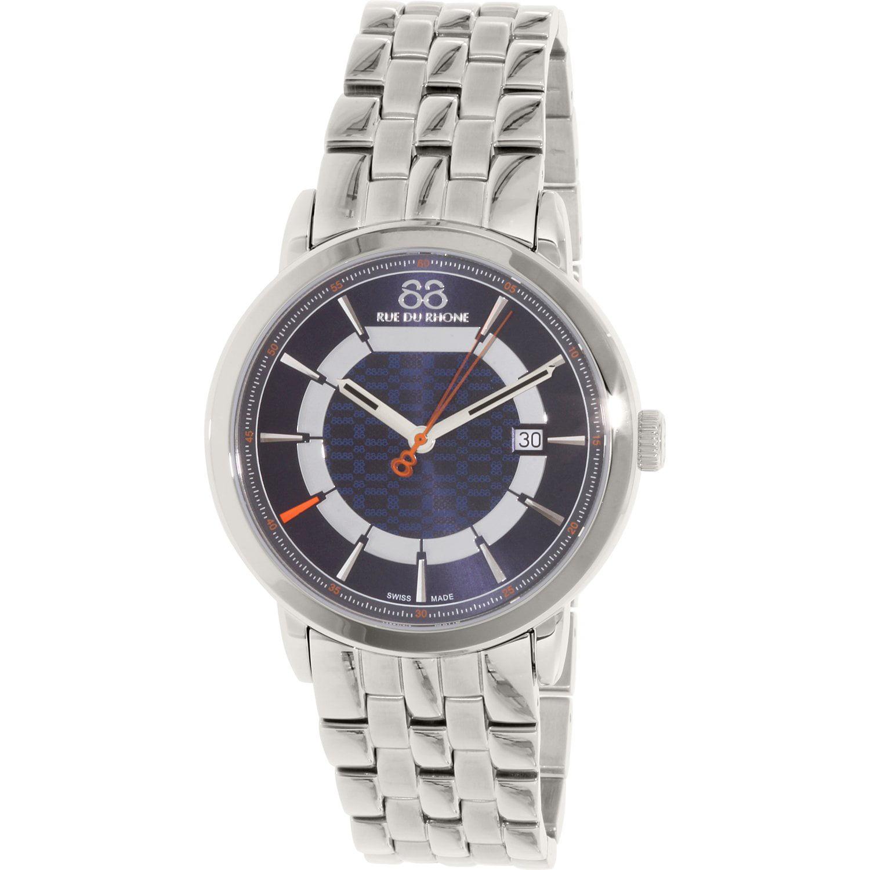 Image of 88 Rue Du Rhone Men's 87WA144203 Silver Stainless-Steel Swiss Quartz Dress Watch