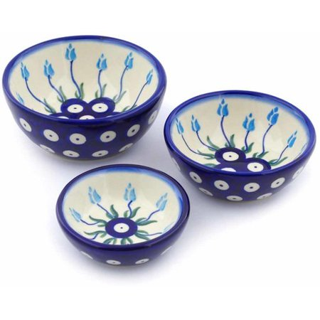 Polmedia Floral Peacock 3 Piece Condiment Server
