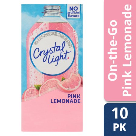 - Crystal Light On-The-Go Pink Lemonade, 10-Count Boxes (Pack of 12)