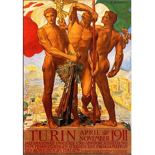 "Trademark Fine Art ""Turin 1911"" Canvas Art by Adolfo Carolis"