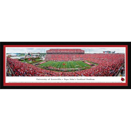 Louisville Cardinals Football - 50 Yard Line - Blakeway Panoramas College Print with Select Frame and Single Mat
