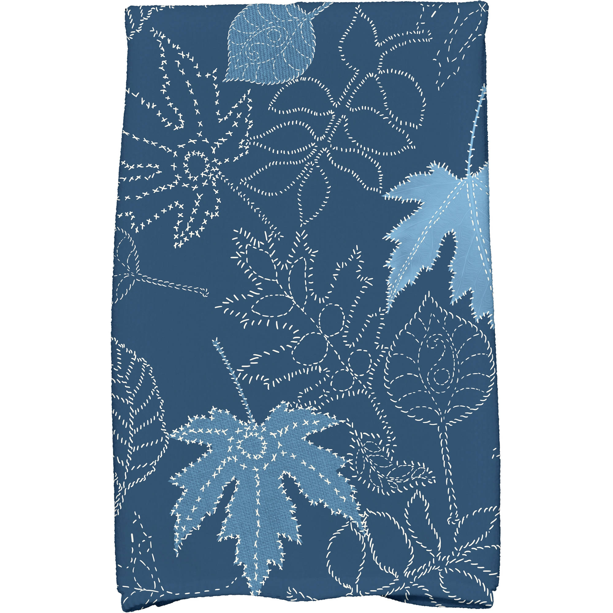 "Simply Daisy 16"" x 25"" Dotted Leaves Floral Print Kitchen Towel by E By Design"